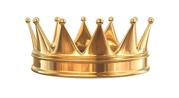 Golden crown isolated on white - 3d render